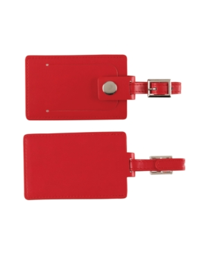 Concierge Luggage Tags, Red Set of 2