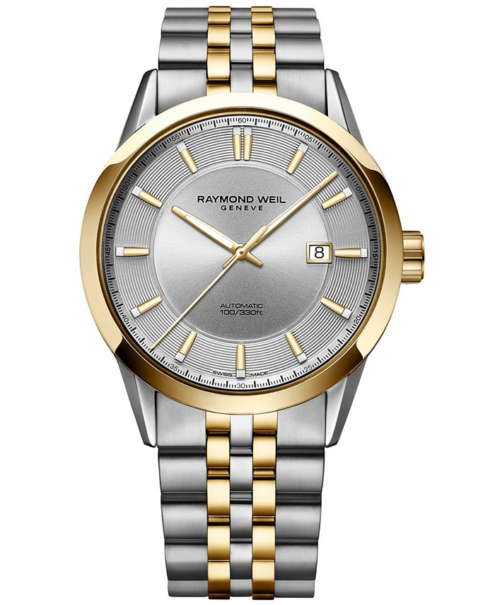 Raymond Weil - Men's Swiss Automatic Freelancer Two-Tone PVD Stainless Steel Bracelet Watch 42mm