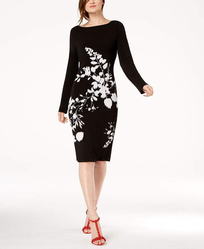 INC International Concepts - Floral-Print Sheath Dress