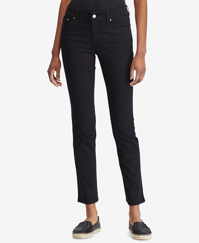Lauren Ralph Lauren - Super-Stretch Straight-Leg Jeans