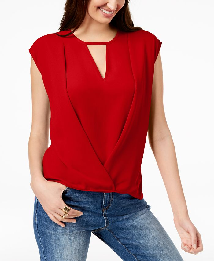 INC International Concepts - Keyhole Crossover Top