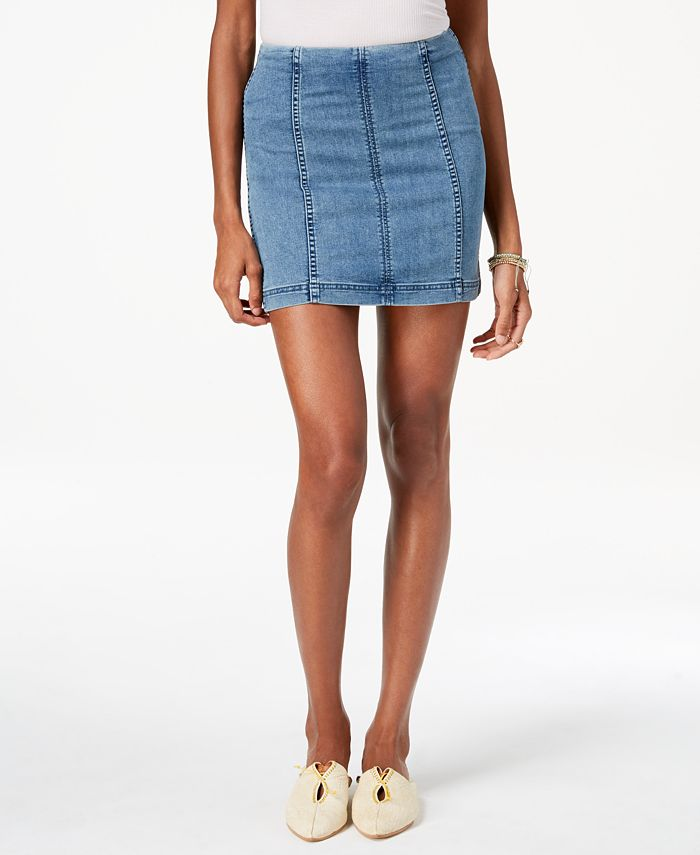 Free People - Denim Mini Skirt