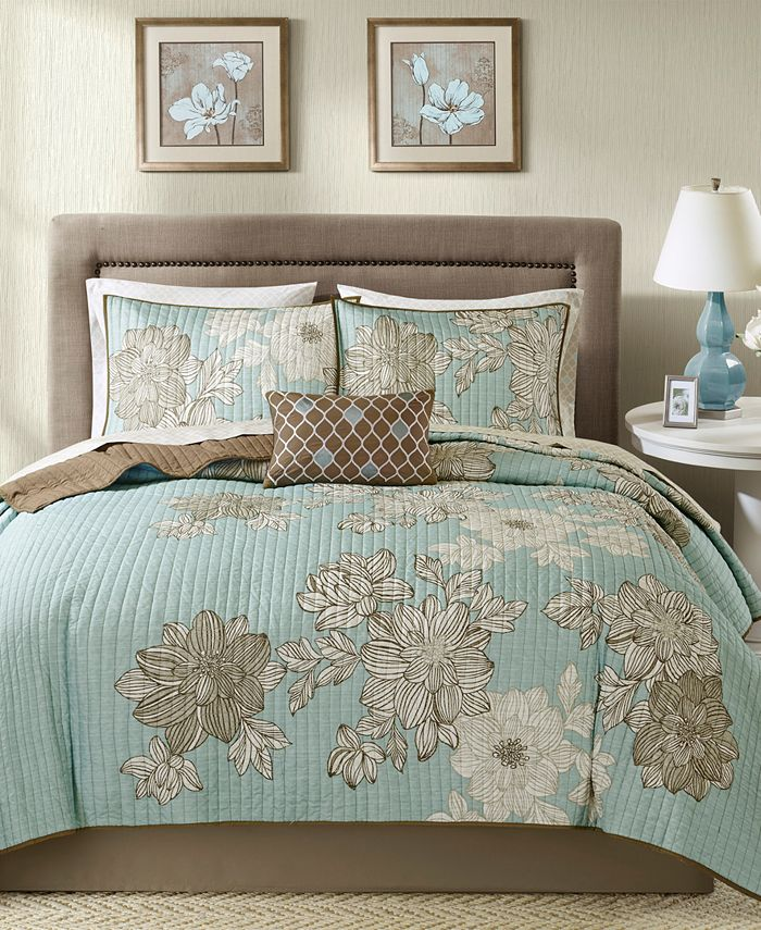 Madison Park - Essentials Avalon 8-Pc. California King Coverlet Set