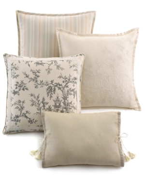 "Lauren by Ralph Lauren Bedding, Saint Honore 18"" Square Embroidered Decorative Pillow Bedding"