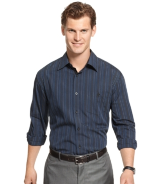 Alfani Shirt, Teton Striped Long Sleeve Shirt