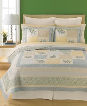 Martha Stewart Collection Bedding, Trailing Flowers Standard Quilted Sham Bedding