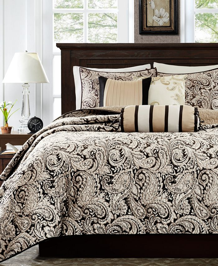 Madison Park - Aubrey 6-Pc. Quilted King/California King Coverlet Set