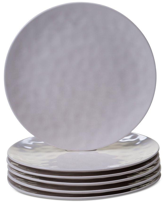 Certified International - 6-Pc. Cream Melamine Dinner Plate Set