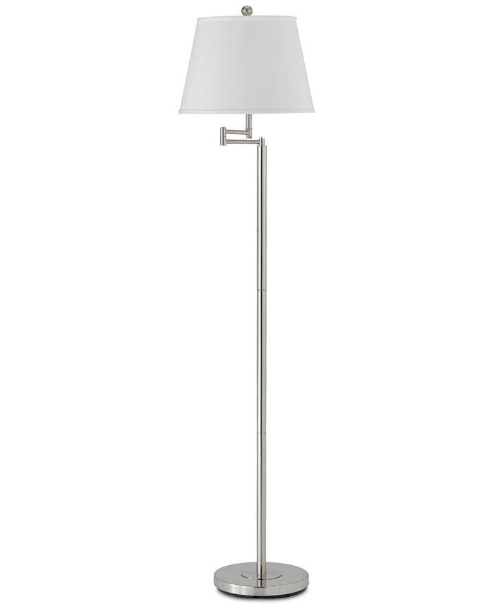 Cal Lighting - 150W 3-Way Andros Metal Swing Arm Floor Lamp