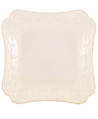Lenox Dinnerware, French Perle White Square Dinner Plate