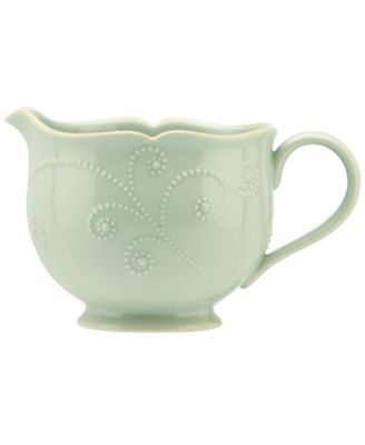 Lenox Dinnerware, French Perle Ice Blue Sauce Pitcher