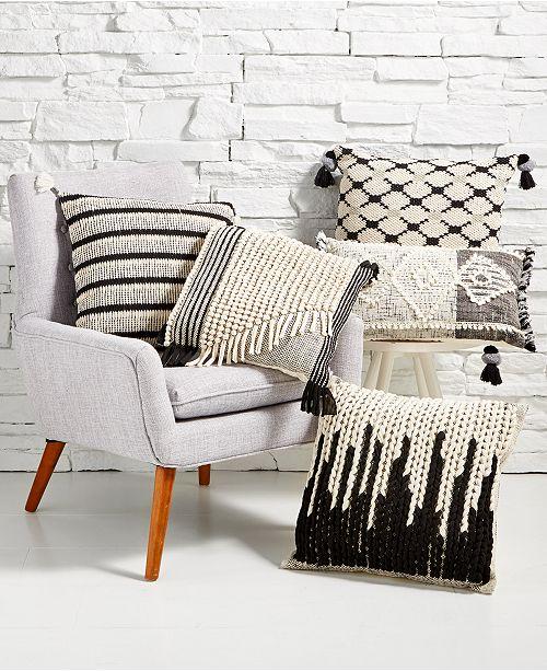 Sunham Black & Cream Hand Woven Decorative Pillow Collection