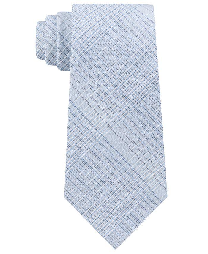 Calvin Klein - Men's Hi-Ridge Plaid Slim Tie
