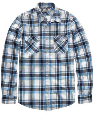 Club Room Shirt, Slim Fit Plaid Flannel