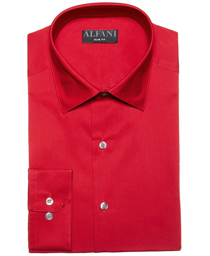 Alfani - Men's Alfa Tech Solid Classic Fit Dress Shirt, Created For Macy's