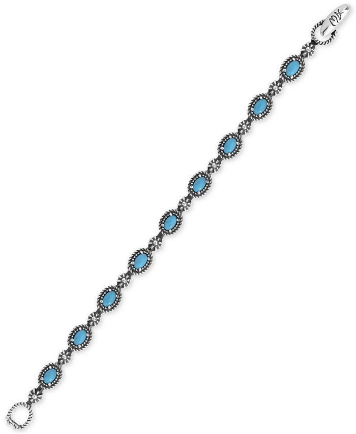 American West - Turquoise Tennis Bracelet (5-1/2 ct. t.w.) in Sterling Silver