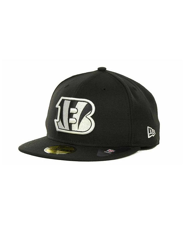 New Era Cincinnati Bengals Black And White 59FIFTY Fitted Cap