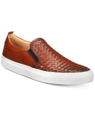 Grifyn Weave Leather Slip-Ons