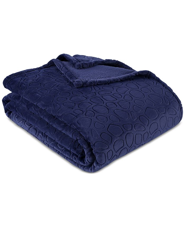 Berkshire - Blanket® PrimaLush™ Pebbles Full/Queen Bed Blanket