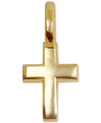 Mini Cross Charm in 14k Gold