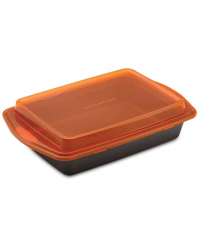 """Rachael Ray - Non-Stick Bakeware 9"""" by 13"""" Cake Pan & Lid"""