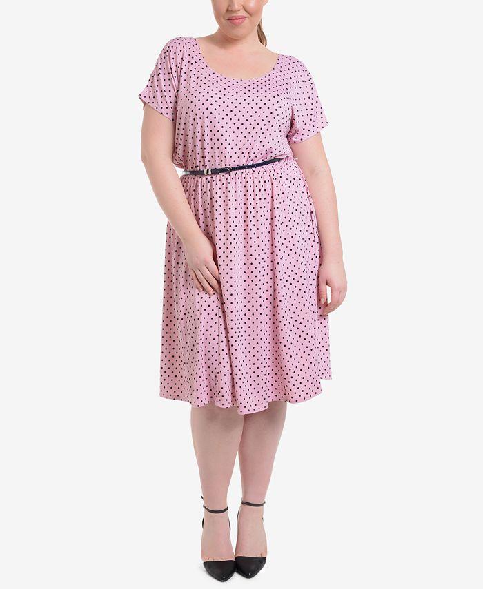 NY Collection - Plus Size Polka Dot Dress