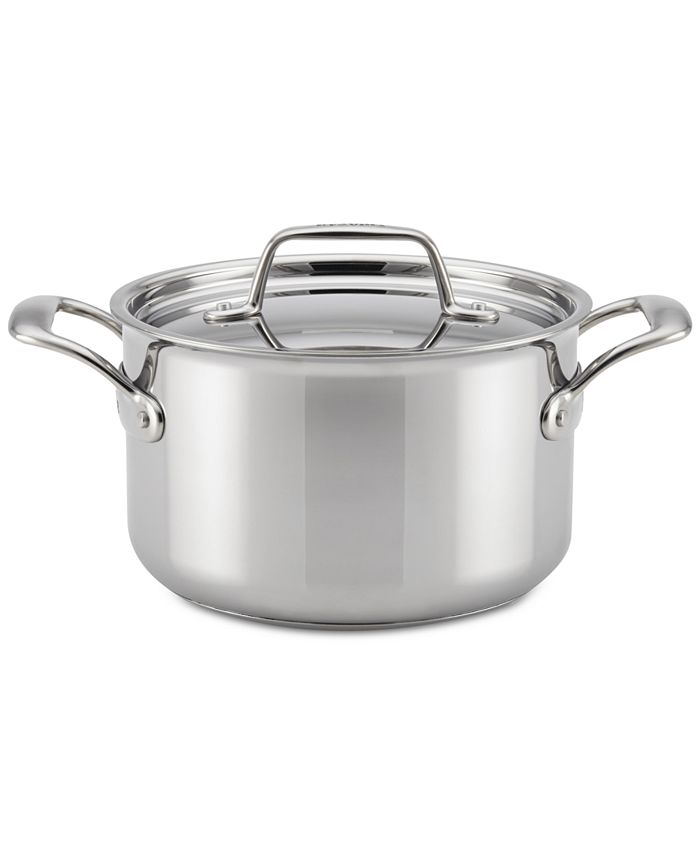 Breville - Thermal Pro Clad Stainless Steel 4-Qt. Saucepot & Lid