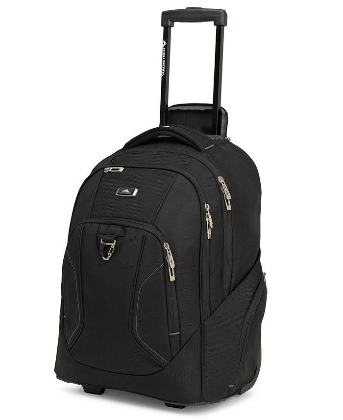 High Sierra - Black Endeavor Wheeled Backpack
