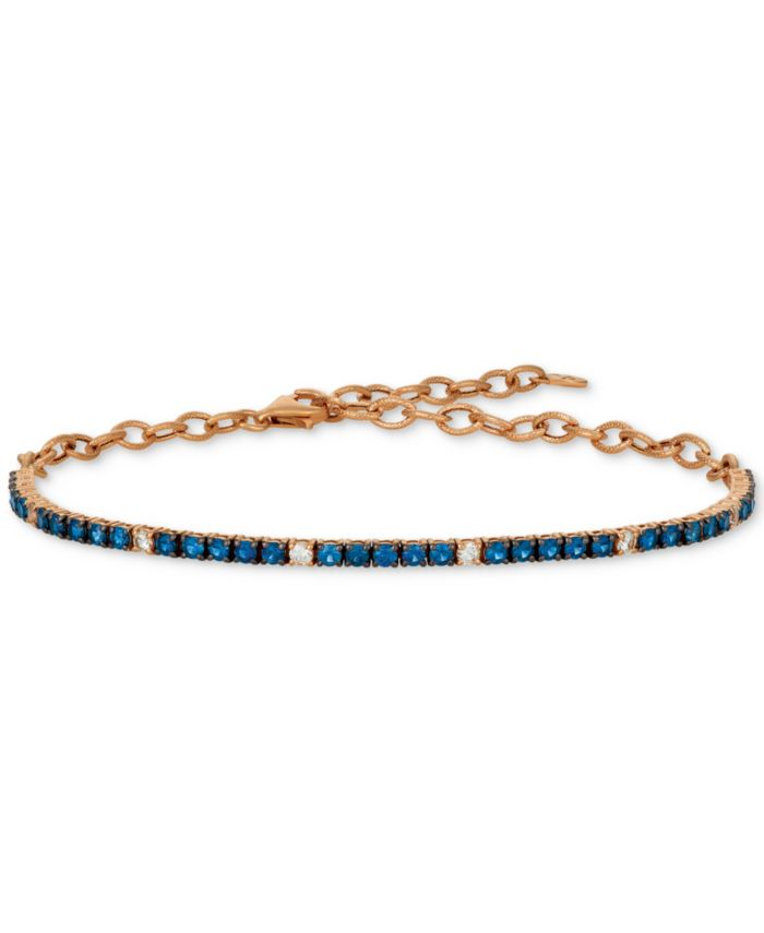 Le Vian Blueberry (1-1/3 ct. t.w.) & Vanilla (1/5 ct. t.w.) Sapphire Bracelet in 14k Rose Gold (Also Available In Ruby) & Reviews - Bracelets - Jewelry & Watches - Macy's