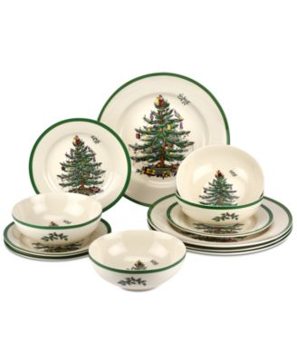 Christmas Tree 12-Pc. Dinnerware Set, Created for Macy