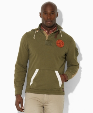 Polo Ralph Lauren Big and Tall Shirt, Classic Fit Hooded Rugby