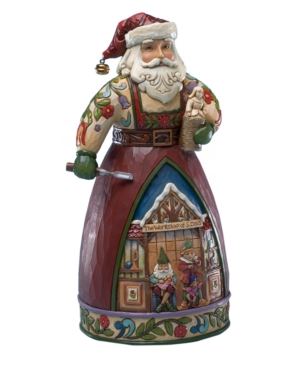 Jim Shore Collectible Figurine, Santa Carving A Toy