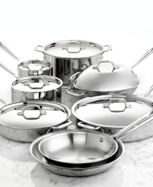 All-Clad Cookware Set, 14 Piece Stainless Steel