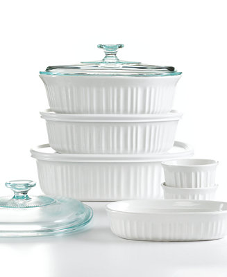 Corningware French White 10 Piece Bakeware Set Bakeware