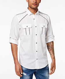 INC Men's Piped Shirt, Created for Macy's