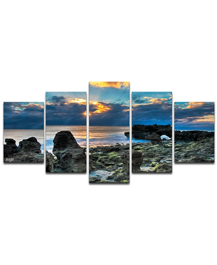 Ready2HangArt - 'Sunrise' 5-Pc. Canvas Art Print Set