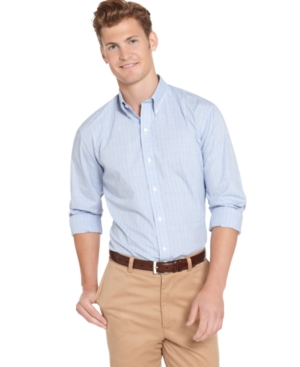 AJ Izod Shirt, Slim Fit Classic Checked Shirt