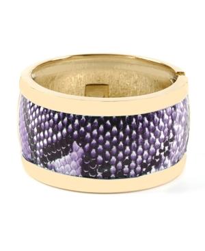Haskell Bracelet, Purple Snake Print Bangle