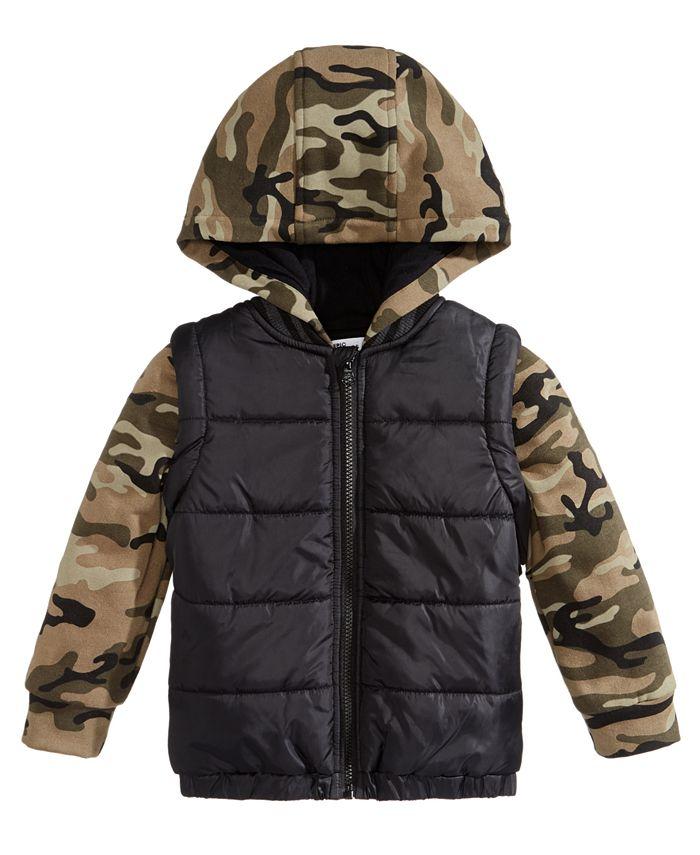 Epic Threads - Toddler Boys Camo-Print Puffer Coat