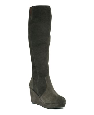steve madden s ashleey wedge boots shoes macy s