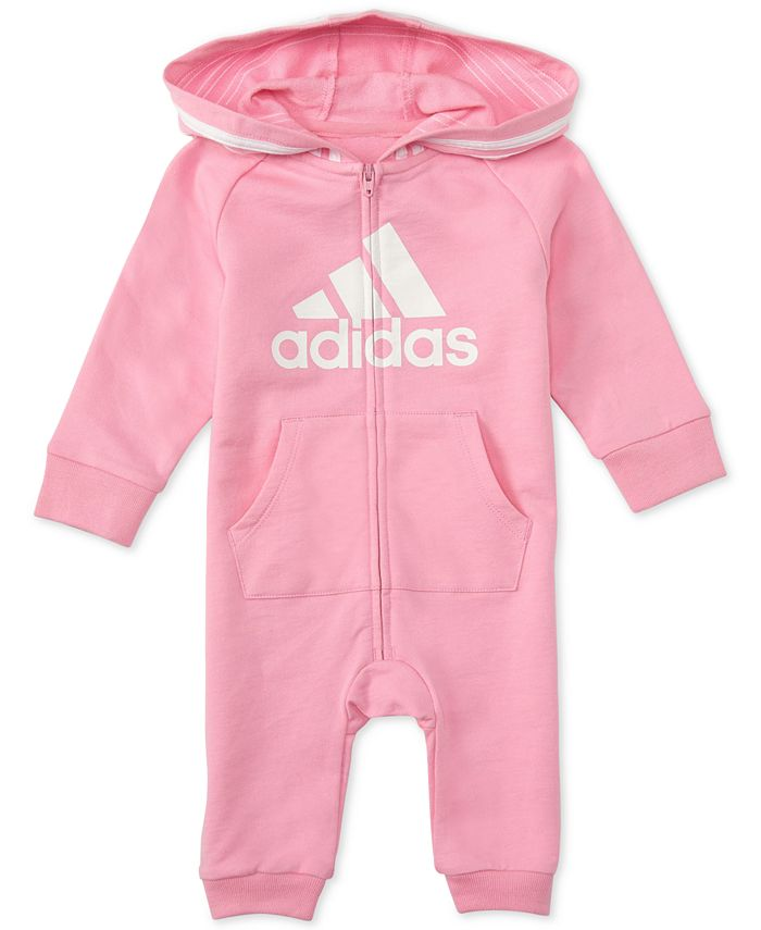 adidas - Baby Girls Hooded Coverall