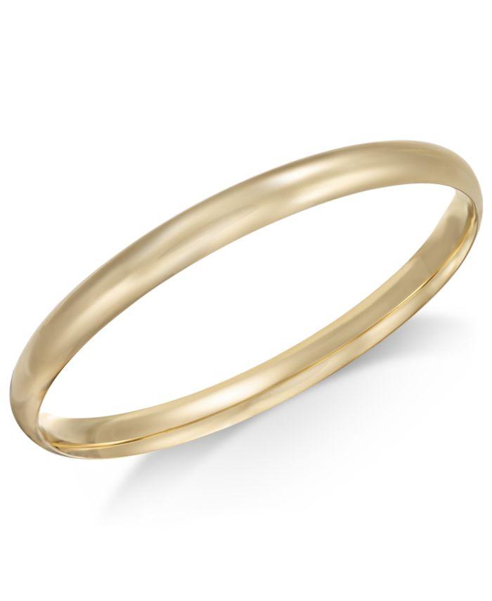 Macy's Polished Dome Bangle Bracelet in 14k Gold & Reviews - Bracelets - Jewelry & Watches - Macy's