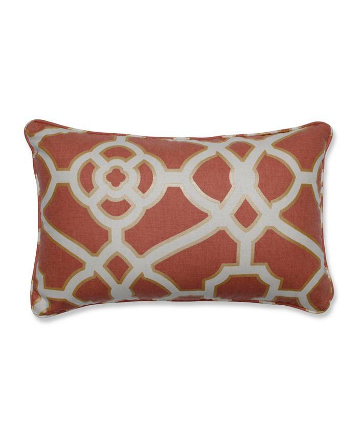 Pillow Perfect - Burnished Tile Spice Rectangular Throw Pillow