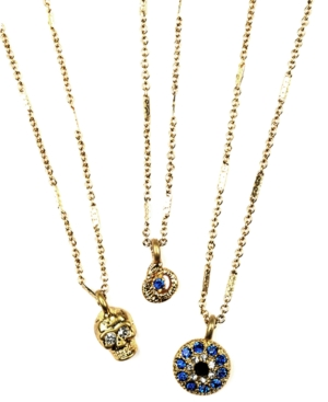 RACHEL Rachel Roy Necklace Set, Skull, Snake and Evil Eye Pendant Set