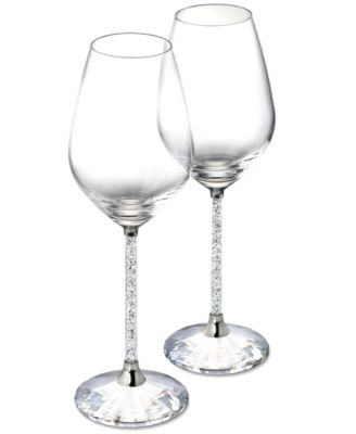 Swarovski Stemware, Set of 2 Crystalline Red Wine