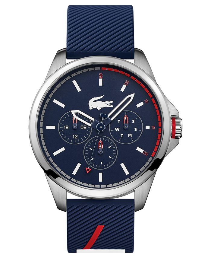 Lacoste - Men's Capbreton Blue Silicone Strap Watch 46mm
