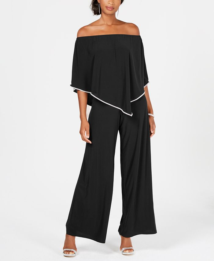 MSK - Off-The-Shoulder Overlay Jumpsuit