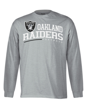 Reebok NFL T Shirt, Oakland Raiders Arched Horizon Long Sleeve Tee