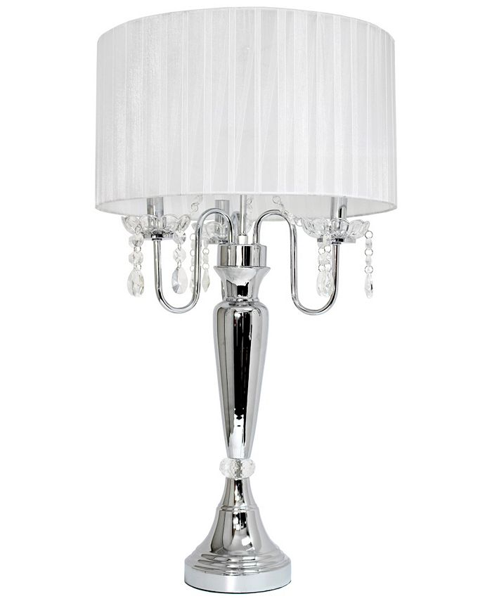 All The Rages - Trendy Romantic Sheer Shade Table Lamp with Hanging Crystals