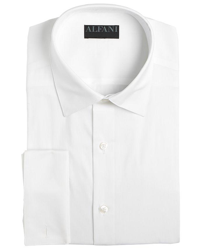 Alfani - Men's Slim-Fit Alfa Tech Solid French Cuff Dress Shirt